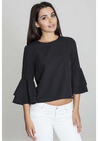 Czarna bluzka hiszpanka Figl krótka