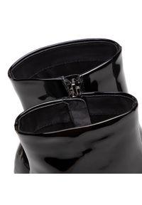 Czarne botki Gino Rossi z cholewką, na średnim obcasie, na obcasie
