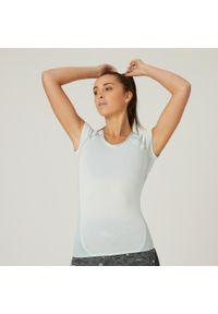 NYAMBA - Koszulka krótki rękaw fitness. Typ kołnierza: dekolt w serek. Kolor: zielony. Materiał: poliester, elastan, bawełna, materiał. Długość rękawa: krótki rękaw. Długość: krótkie. Sport: fitness