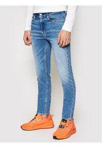 Tommy Jeans Jeansy Simon DM0DM09841 Granatowy Skinny Fit. Kolor: niebieski