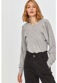 Szara bluza Answear Lab wakacyjna, długa