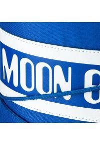 Niebieskie śniegowce Moon Boot z cholewką, na zimę