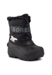 Czarne buty zimowe sorel