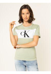 Zielony t-shirt Calvin Klein Jeans