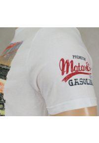Biały t-shirt Brave Soul retro, na co dzień, z nadrukiem