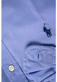 Niebieska koszula Polo Ralph Lauren długa, polo, na co dzień, casualowa