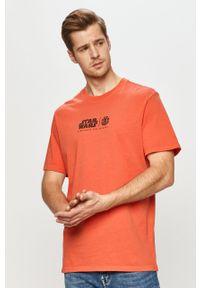 Czerwony t-shirt Element na co dzień, casualowy