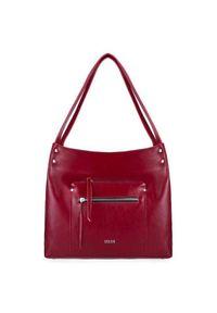 Czerwona torebka Solier elegancka, na ramię