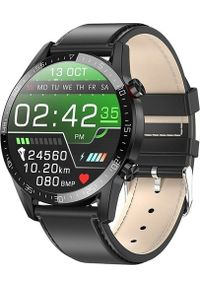 Czarny zegarek Aludra smartwatch