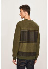 Zielona bluza nierozpinana Pepe Jeans na co dzień, z okrągłym kołnierzem, casualowa, z aplikacjami