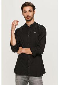 Czarna koszula Tommy Jeans ze stójką, z długim rękawem