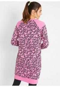 Różowa sukienka bonprix z długim rękawem