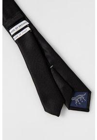 TIGER OF SWEDEN - Tiger Of Sweden - Krawat. Kolor: czarny. Materiał: materiał. Wzór: gładki