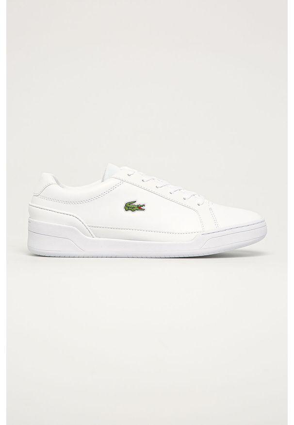 Lacoste - Buty skórzane Challenge 01020 2 SMA. Nosek buta: okrągły. Zapięcie: sznurówki. Kolor: biały. Materiał: skóra. Szerokość cholewki: normalna