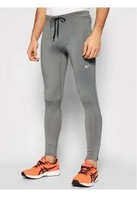 Nike Legginsy Challenger CZ8830 Szary Tight Fit. Kolor: szary