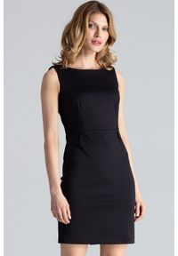 Czarna sukienka na imprezę Figl klasyczna, mini