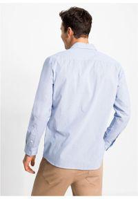 Fioletowa koszula bonprix w paski, długa