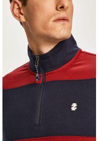 Czerwona bluza nierozpinana Izod w kolorowe wzory, krótka, na co dzień, casualowa