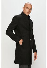 Czarny płaszcz Tom Tailor Denim casualowy, na co dzień