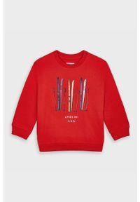 Czerwona bluza Mayoral casualowa, z nadrukiem
