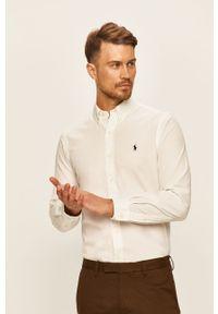 Biała koszula Polo Ralph Lauren casualowa, polo, długa, na co dzień