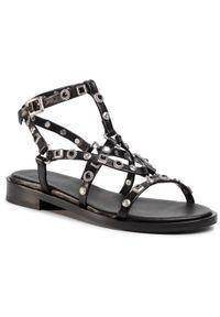 Czarne sandały Bronx casualowe, na co dzień