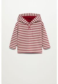 Czerwona bluza Mango Kids na co dzień, z kapturem, casualowa