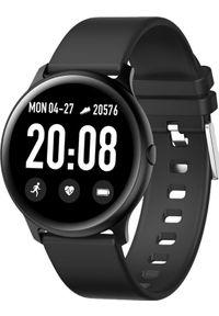 Czarny zegarek Maxcom smartwatch