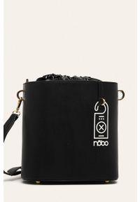 Czarna torebka Nobo na ramię, z nadrukiem