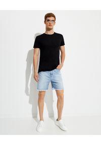 SER.O.YA - Czarna koszulka Luke Easy. Kolor: czarny. Materiał: bawełna