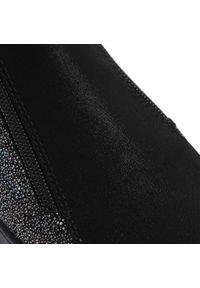 Czarne kozaki Bartek z cholewką przed kolano, z cholewką