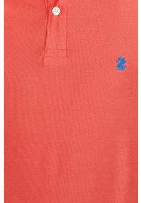 Czerwona koszulka polo Izod casualowa, krótka, polo