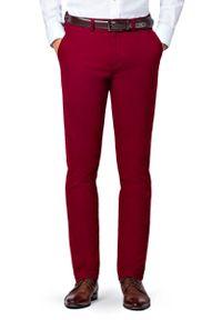 Czerwone spodnie Lancerto w kolorowe wzory, na co dzień, casualowe