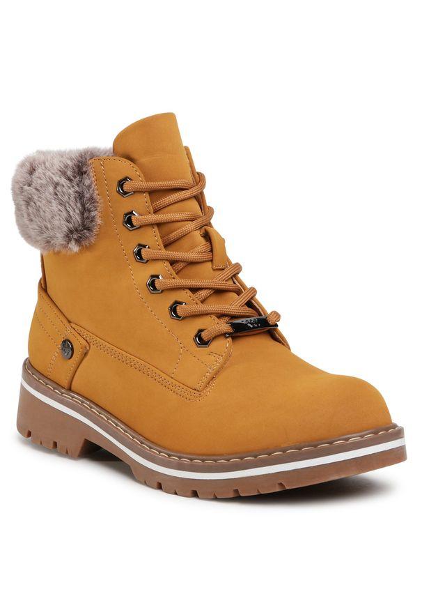 Brązowe buty trekkingowe Xti z cholewką