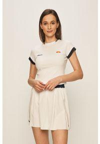 Biała bluzka Ellesse z aplikacjami, na co dzień