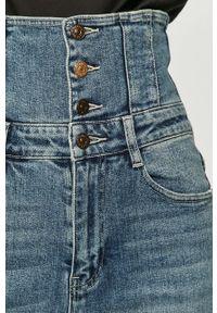 Niebieskie jeansy Miss Sixty z podwyższonym stanem