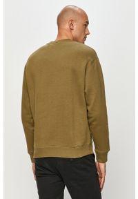 Zielona bluza nierozpinana Kappa bez kaptura, casualowa