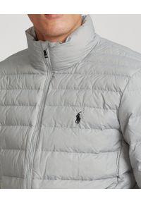 Ralph Lauren - RALPH LAUREN - Szara kurtka kompaktowa. Typ kołnierza: polo. Kolor: szary #2