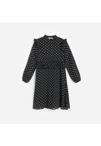 Czarna sukienka Reserved w kropki