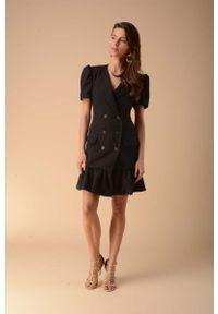 Czarna sukienka wizytowa Nommo