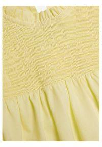 mango - Mango Bluzka Abeja 87086310 Żółty Regular Fit. Kolor: żółty