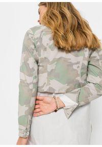 Zielona kurtka bonprix z nadrukiem, krótka
