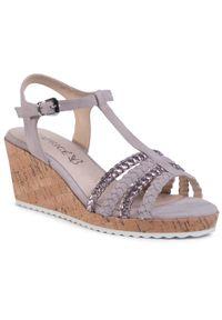 Beżowe sandały Caprice casualowe, na co dzień