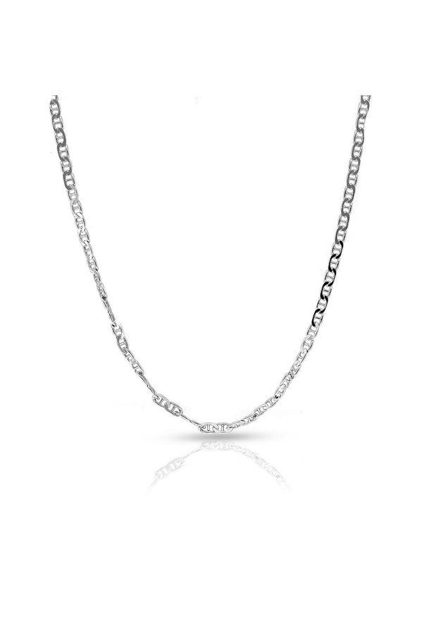 W.KRUK Wspaniały Łańcuszek Srebrny - srebro 925 - SCR/LS067. Materiał: srebrne. Kolor: srebrny. Wzór: ze splotem