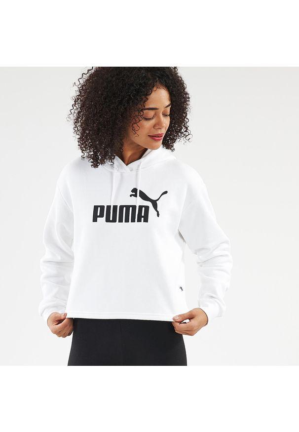 Puma - Bluza z kapturem fitness. Typ kołnierza: kaptur. Materiał: bawełna, poliester. Sport: fitness