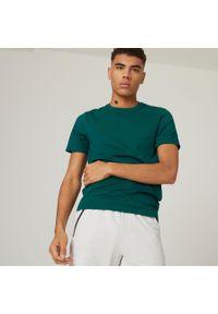 NYAMBA - Koszulka z krótkim rękawem męska Nyamba Gym & Pilates. Kolor: zielony. Materiał: poliester, elastan, bawełna, materiał. Długość rękawa: krótki rękaw. Długość: krótkie. Sport: joga i pilates
