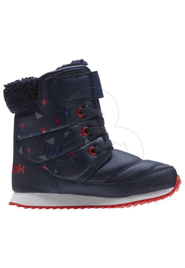 Białe buty trekkingowe Reebok z cholewką, wąskie, na zimę