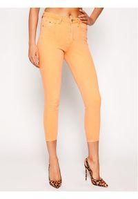 Pomarańczowe jeansy slim Tommy Jeans