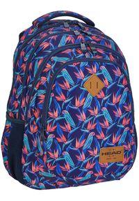 ALWAYS WILD - Plecak szkolny granatowy Always Wild HD-213 HEAD 3. Kolor: niebieski. Materiał: materiał. Wzór: nadruk, aplikacja. Styl: sportowy #1