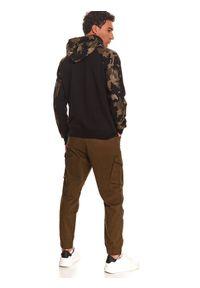 TOP SECRET - Bluza nierozpinana męska reglan, kangurka. Kolor: brązowy #5